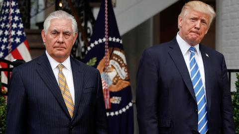 Trump challenges Tillerson to compare IQ tests