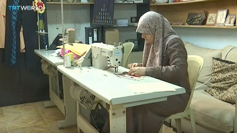 Learning traditional embroidery gives refugee women in Jordan prized skills