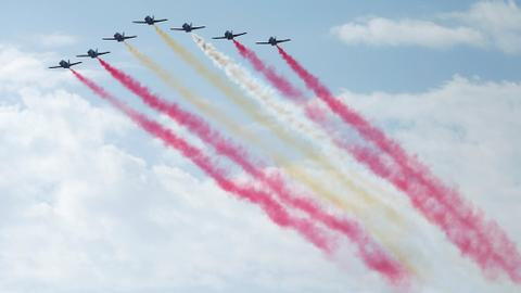 Pilot killed in fighter jet crash following Spain's national day parade