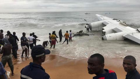 At least four die in cargo plane crash in Ivory Coast