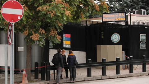 US officials arrive in Ankara for talks as US Ambassador causes concern