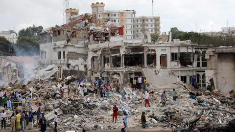 Mogadishu truck bombing death toll rises to more than 300