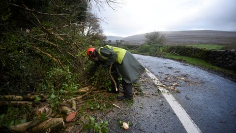 Three dead as storm Ophelia batters Ireland