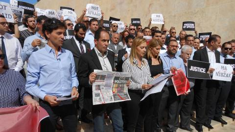 Maltese media unite in outrage over slain journalist