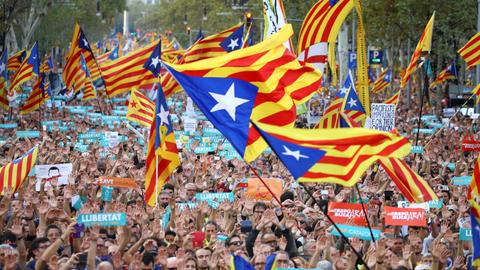Pro-independence demo in Barcelona attended by 450,000