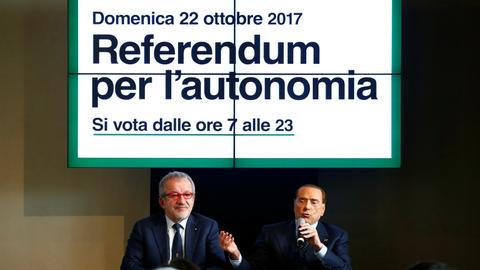 Italy's two richest regions vote in autonomy referendums