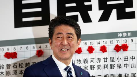 Japanese PM Abe's election gamble pays off