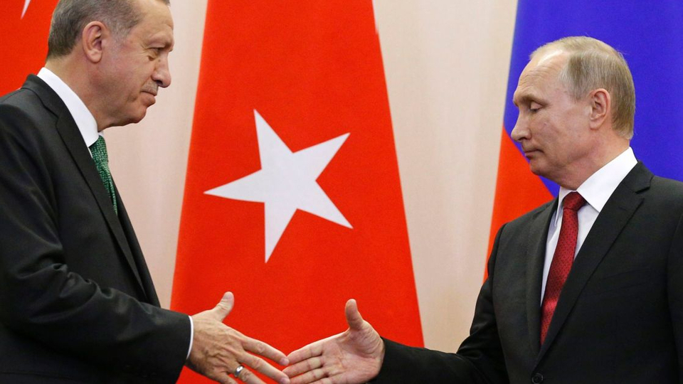 Putin arrives in Ankara to meet with President Erdogan