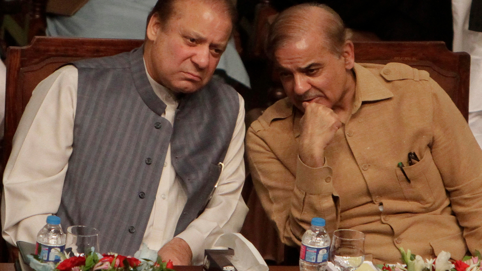 Last week, Nawaz Sharif was re-elected as the president of the country's ruling party. Despite being ousted from his position, Nawaz (left) can still be re-elected thanks to the Pakistan parliament approving a bill allowing officials disqualified by courts to hold party offices. October 4, 2017.