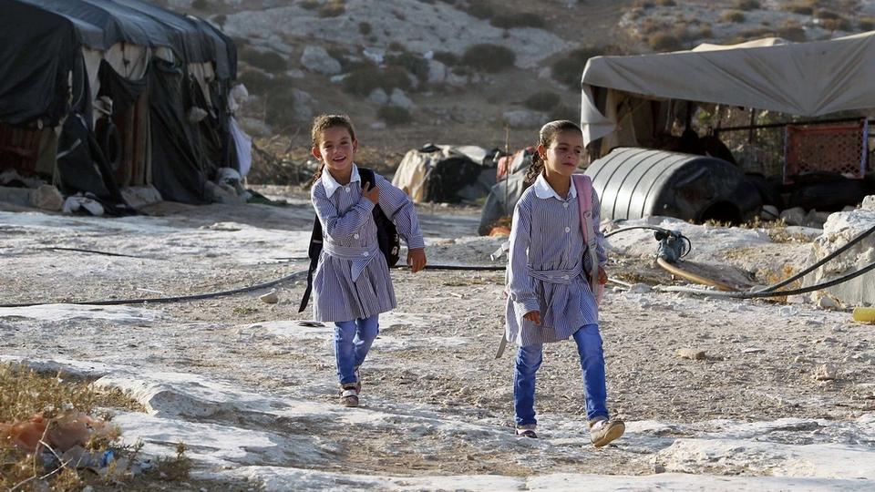 In West Bank schools have been demolished and the children always face the threat of harassment from Israeli settlers. (AFP)