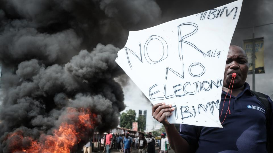 Several people were injured in protests in Kenya on Wednesday after opposition leader Raila Odinga announced he would quit the presidential race. October, 11, 2017
