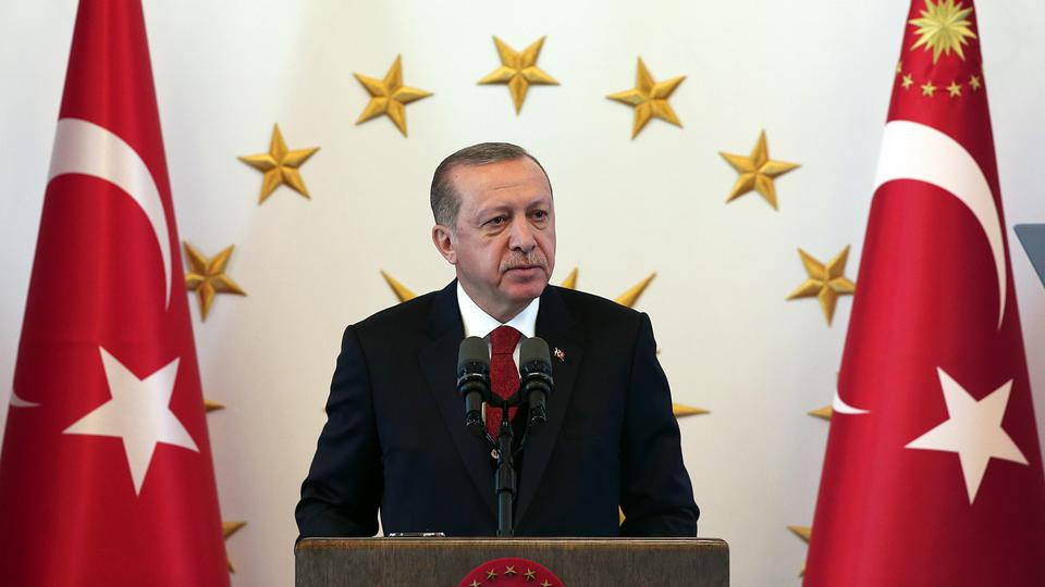Turkish President Erdogan spoke harshly at a meeting with provincial governors in Ankara on Thursday. He criticised the United States for sacrificing its strategic partner for