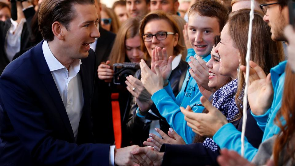 Conservative Kurz, 31, on track to be Austrian leader