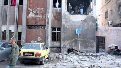 At least 17 dead as suicide bombings hit Damascus