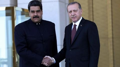 Erdogan, Maduro vow to boost cultural and trade ties