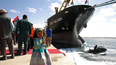 Libya's Benghazi port reopens after three years