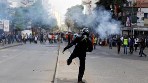 At least two shot dead as Kenya opposition defies protest ban
