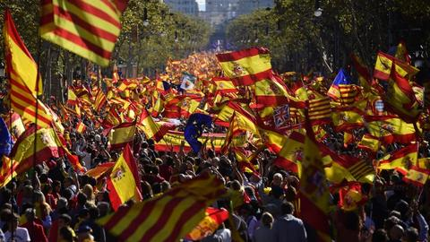 Thousands march in Barcelona against Catalonia independence