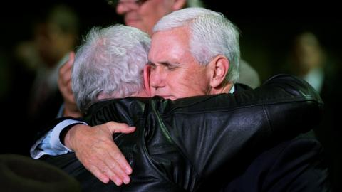 Pence meets church shooting survivors in Texas