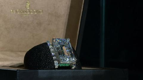 Largest diamond ever auction sold for record $34M in Geneva
