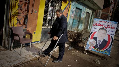 Disabled people make walking aids for others in Egypt