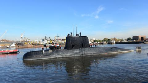Argentinian submarine goes missing with 44 crew members on board