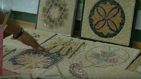 Mosaic making gives deaf Palestinian women a voice