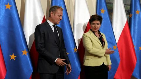 "Tusk says ""Kremlin plan"" behind Poland tensions with Ukraine and EU"