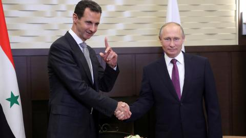 Putin hosts Syrian regime leader Assad for talks in Russia's Sochi