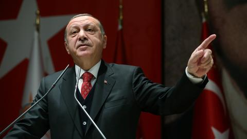 Erdogan compares Turkish businessman's US case to 2013 plot against govt