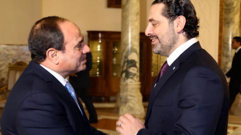 Lebanese PM Hariri meets Egypt's Sisi in Cairo