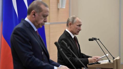 Leaders of Russia, Iran, Turkey meet to restart Syria peace process