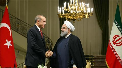 Turkish and Iranian presidents meet on sidelines of Syria summit in Sochi
