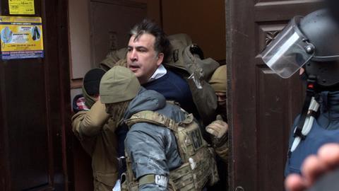 Former Georgia president rearrested in Ukraine