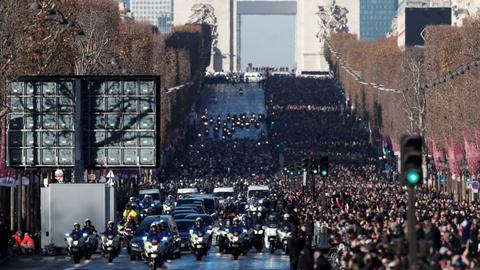 France bids final farewell to rock idol Hallyday at Paris memorial