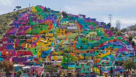 Mexican city lightens up its dark past with art
