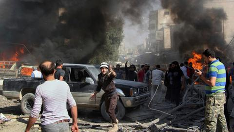 Syrian regime and allies push towards Idlib province
