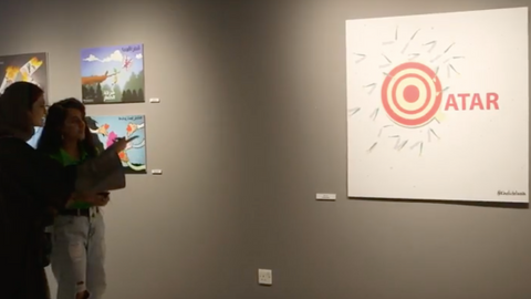 'Le Blockade': Qataris respond to Gulf blockade with art