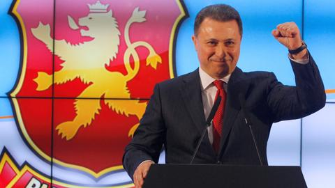Macedonia's former PM Gruevski quits party leadership