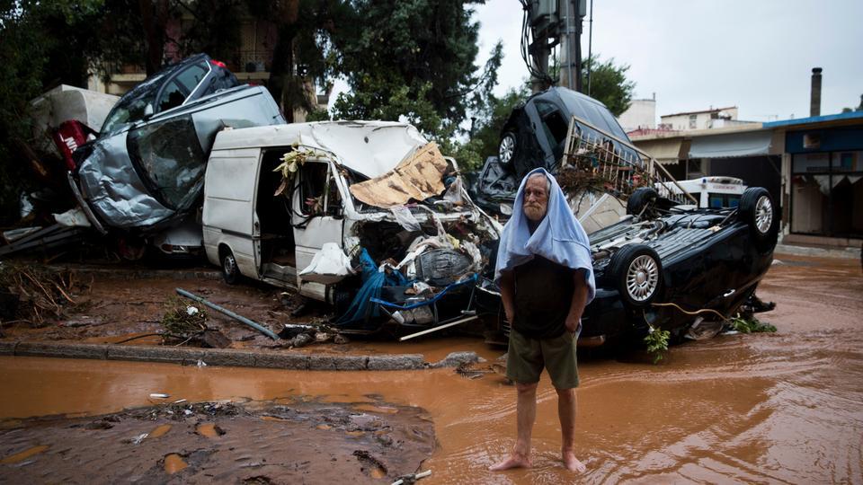 'Biblical' Floods Kill 14 Near Greek Capital