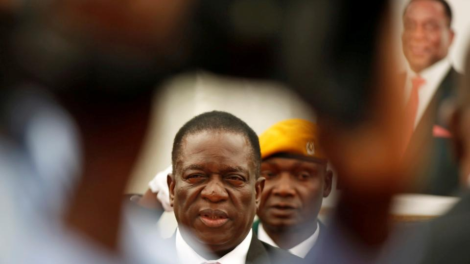 Zimbabwe's president swears in first post-Mugabe cabinet