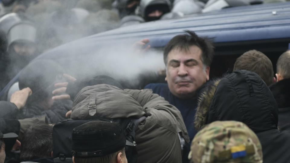 Former Georgian president Saakashvili is detained in Ukraine